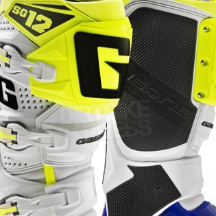 Gaerne SG12 Motocross Boots - Limited Edition Blue White Yellow Image 4