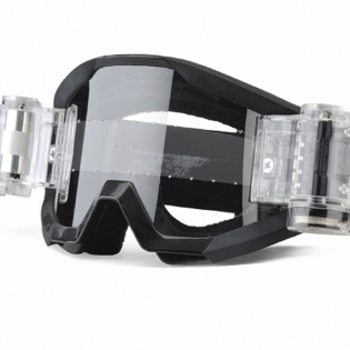 100% Strata Mud Goggles - Goliath Black SVS Clear Lens Image 4