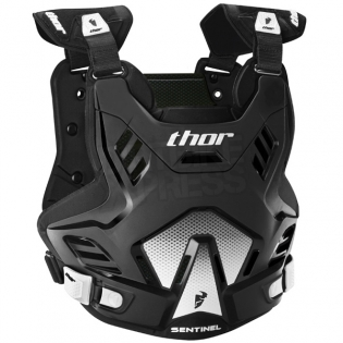 Thor Kids Sentinel GP Body Armour - Black Image 4