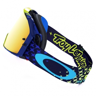Oakley Airbrake MX Goggles - Troy Lee Designs Star Yellow Blue 24K Image 2