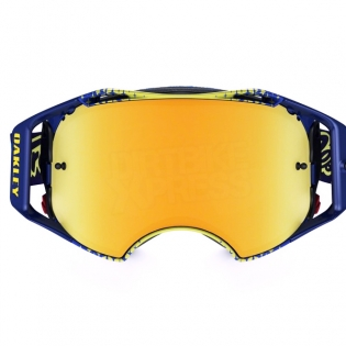 Oakley Airbrake MX Goggles - Troy Lee Designs Star Yellow Blue 24K Image 3