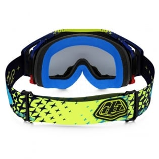 Oakley Airbrake MX Goggles - Troy Lee Designs Star Yellow Blue 24K Image 4