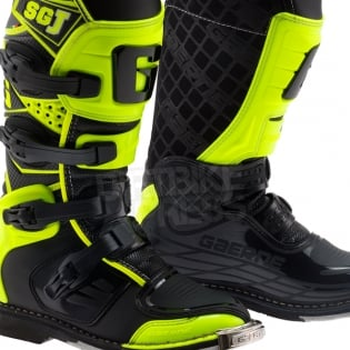 Gaerne SGJ Kids Boots - Black Fluo Yellow Image 2