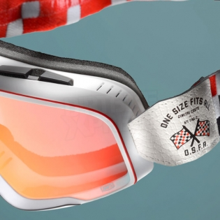 100% Barstow Classic Goggles - OSFA Red Mirror Lens Image 2