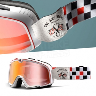 100% Barstow Classic Goggles - OSFA Red Mirror Lens Image 3