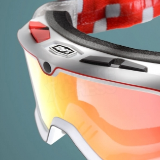 100% Barstow Classic Goggles - OSFA Red Mirror Lens Image 4