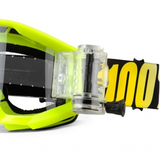 100% Strata Mud Goggles - Neon Yellow SVS Clear Lens Image 2