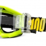 100% Strata Mud Goggles - Neon Yellow SVS Clear Lens