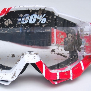 100% Strata Mud Goggles - Neon Yellow SVS Clear Lens Image 3