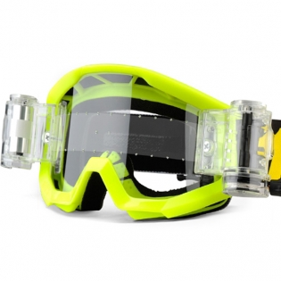 100% Strata Mud Goggles - Neon Yellow SVS Clear Lens Image 4