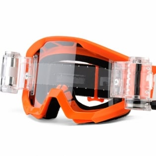 100% Strata Mud Goggles - Orange SVS Clear Lens Image 4