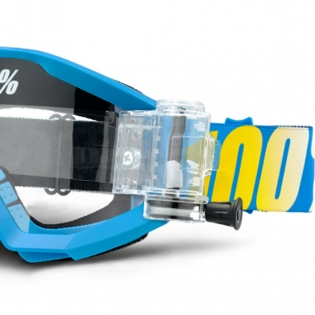 100% Strata Mud Goggles - Blue SVS Clear Lens Image 2