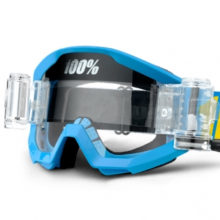 100% Strata Mud Goggles - Blue SVS Clear Lens Image 4