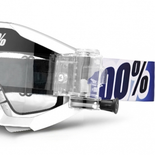 100% Strata Mud Goggles - Ice Age SVS Clear Lens Image 2