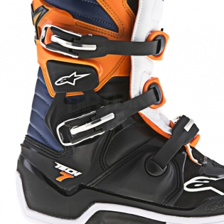 Alpinestars Tech 7 Boots - Black Orange White Blue Image 2