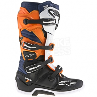 Alpinestars Tech 7 Boots - Black Orange White Blue Image 3