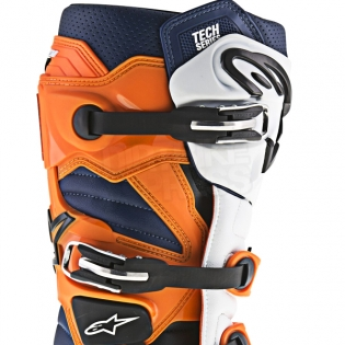 Alpinestars Tech 7 Boots - Black Orange White Blue Image 4