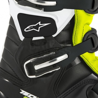 Alpinestars Tech 7 Boots - Black White Flo Yellow Image 3