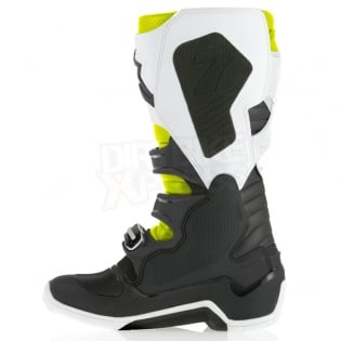 Alpinestars Tech 7 Boots - Black White Flo Yellow Image 4
