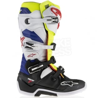 Alpinestars Tech 7 Boots - White Flo Yellow Navy Image 3