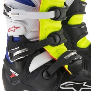 Alpinestars Tech 7 Boots - White Flo Yellow Navy Image 4