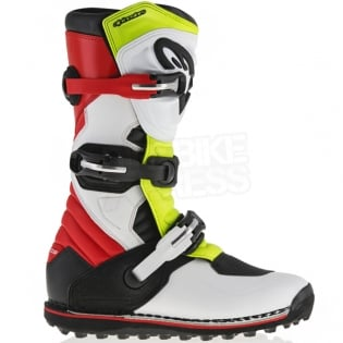 Alpinestars Tech-T Trials Boots - White Red Flo Yellow Black Image 2