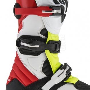 Alpinestars Tech-T Trials Boots - White Red Flo Yellow Black Image 4