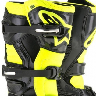 Alpinestars Kids Boots Tech 7S - Black Flo Yellow Image 2