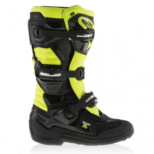 Alpinestars Kids Boots Tech 7S - Black Flo Yellow Image 3