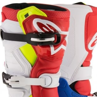 Alpinestars Kids Boots Tech 7S - Blue White Red Flo Yellow Image 2