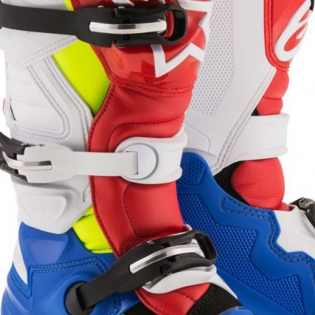 Alpinestars Kids Boots Tech 7S - Blue White Red Flo Yellow Image 3
