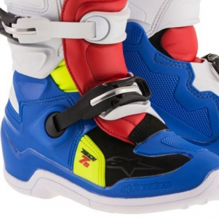 Alpinestars Kids Boots Tech 7S - Blue White Red Flo Yellow Image 4