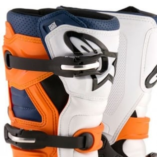 Alpinestars Kids Boots Tech 7S - Black Orange White Blue Image 2