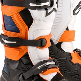 Alpinestars Kids Boots Tech 7S - Black Orange White Blue Image 3