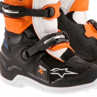 Alpinestars Kids Boots Tech 7S - Black Orange White Blue Image 4