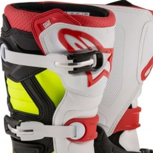 Alpinestars Kids Boots Tech 7S - Black Red Flo Yellow Image 2