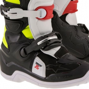 Alpinestars Kids Boots Tech 7S - Black Red Flo Yellow Image 4
