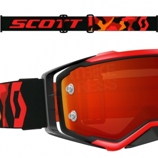 2017 Scott Prospect Goggles - Black Flo Red Orange Chrome Image 3