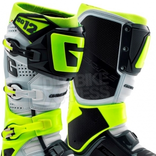 Gaerne SG12 Motocross Boots - Limited Edition Grey Fluo Yellow Image 2