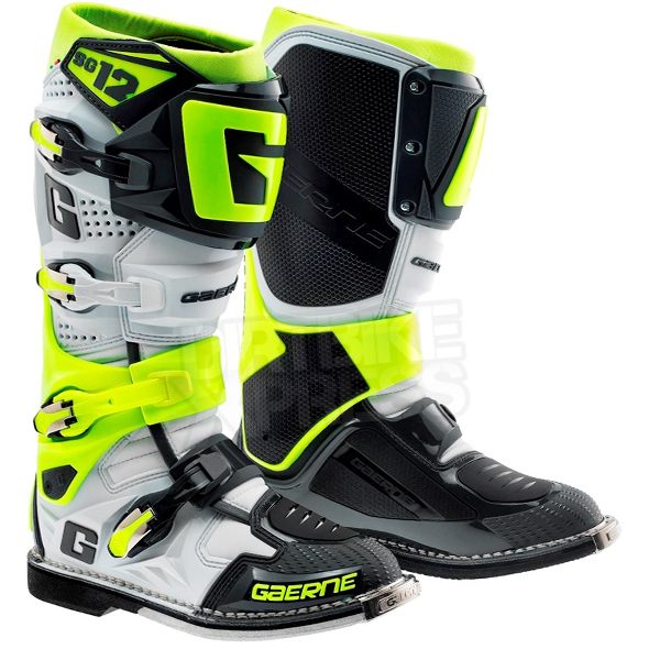 Gaerne Boots Sg12 >> Gaerne Sg12 Motocross Boots Limited Edition Grey Fluo Yellow