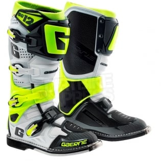 Gaerne SG12 Motocross Boots - Limited Edition Grey Fluo Yellow Image 3