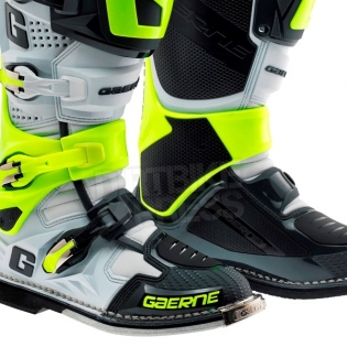 Gaerne SG12 Motocross Boots - Limited Edition Grey Fluo Yellow Image 4