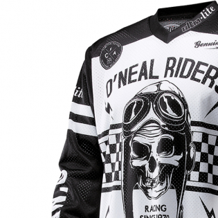 ONeal Ultra Lite LE 70 Black White Jersey Image 2