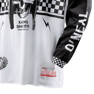 ONeal Ultra Lite LE 70 Black White Jersey Image 4