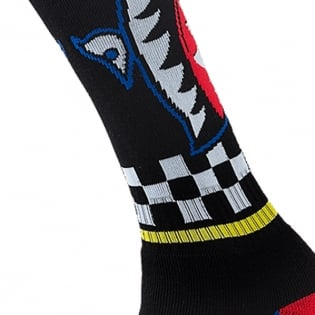 ONeal MX Boot Socks - Afterburner Black Blue Red Yellow Image 3
