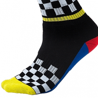 ONeal MX Boot Socks - Afterburner Black Blue Red Yellow Image 4