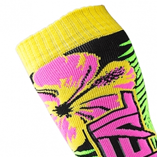 ONeal MX Boot Socks - Island Pink Green Yellow Image 2