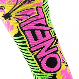 ONeal MX Boot Socks - Island Pink Green Yellow Image 3
