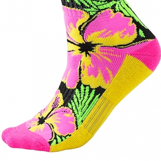 ONeal MX Boot Socks - Island Pink Green Yellow Image 4
