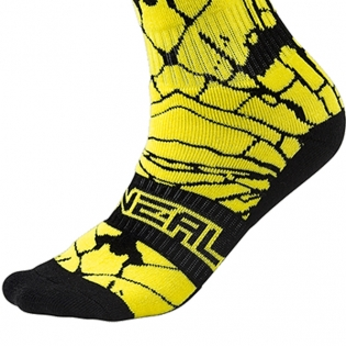 ONeal MX Boot Socks - Enigma Black Neon Image 4